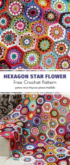One piece chart  Flower Burst Afghan Pattern