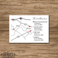 Items similar to Custom Wedding Map, Event Map, Directions, Locations - PRINTABLE file - Enclosure Card, Invitation Insert with a map on Etsy Wedding Tips, Diy Wedding, Wedding Stuff, Wedding Planning, Map Wedding Invitation, Invites, Wedding Stationary, Do It Yourself Wedding, Custom Map