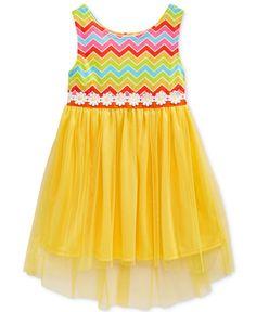 Sweet Heart Rose Little Girls' Chevron High-Low Dress