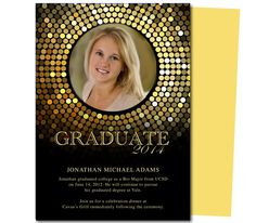 Alpha Graduation Template - available in other colors.