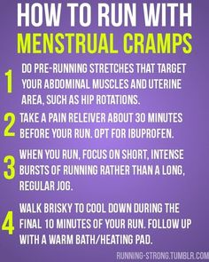 How to Run with Menstrual Cramps
