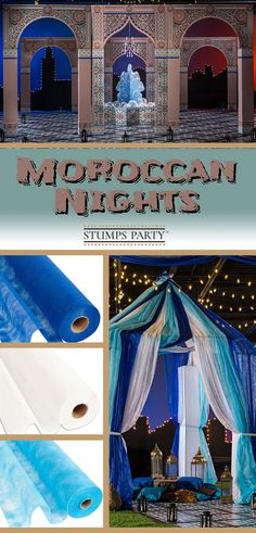 Create the ultimate scene of romance at your event with our Moroccan Nights theme kit. Complement your event with personalized Moroccan favors, invitations, and more! Shop all of our Moroccan party supplies to make your event complete!