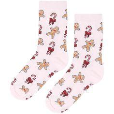 TOPSHOP Glitter Gingerbread Man Socks (7.97 CAD) ❤ liked on Polyvore featuring intimates, hosiery, socks, pink, cotton ankle socks, tennis socks, topshop, cotton socks and pink ankle socks