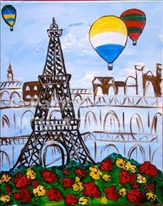 Art Enrichment Summer Camp - Day in Paris - St. Petersburg, FL Painting Class - Painting with a Twist