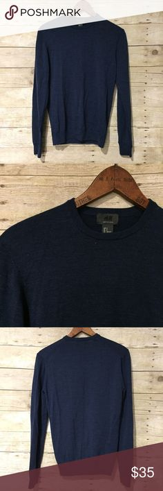 H & M | Merino Wool Midnight Blue Sweater New without tags. Has a little bit of stretch. Color is a midnight blue. H&M Sweaters