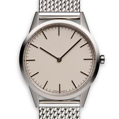 The new C35 from Uniform Wares comes with a woven Milanese mesh steel bracelet. #watches #design