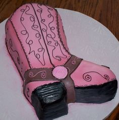 cowgirl cake - boot @Maggie Moore Moore Ball- I could make u this and have it look like ur boots!