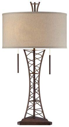 Industrial Lattice Truss Table Lamp   55DowningStreet.com