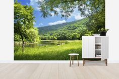Summer Landscape with River - Wall Mural & Photo Wallpaper - Photowall