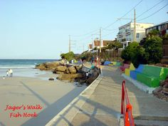Cape Town Beach Guide: Fish Hoek Beach - includes photos and videos of this False Bay attraction on the Cape Peninsula. Cape Town South Africa, Beach Resorts, Climbing, Landscape Photography, Street View, Fish, Places, Travel, Walks