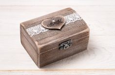 Wedding Ring Box Wedding Ring Holder Ring by InesesWeddingGallery, €25.00