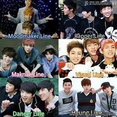 BTS// But wait, Jhope is also in hyung line, some months older than Rapmon even. But I can see he's placing in maknae sometimes though ^^