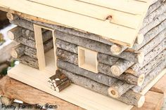 Log Cabin Dollhouse Natural Waldorf Custom Sized Girl's Doll House Rustic Cabin Dollhouse, Girls Dollhouse, Dollhouse Miniatures, Projects For Kids, Diy For Kids, Cabin Crafts, Popsicle Crafts, Fairy Garden Accessories, Miniature Houses