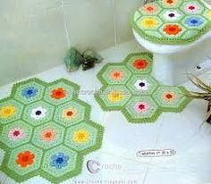 Resultado de imagen para juego de baño a crochet con patrones