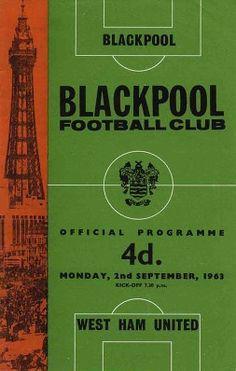 Programme Season 1963/64 Blackpool v. West Ham
