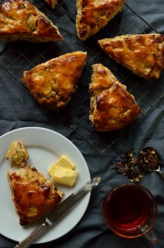 Apple, fig, pecan and honey scones with a hint of spice and honey butter glaze - Domestic Gothess