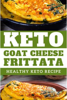 Keto Goat Cheese Frittata with Spinach - Eat these simple keto goat cheese and spinach frittatas as a snack, easy lunch or quick weeknight dinner when you don't have too much time.