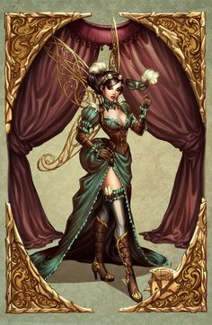 Lady Mechanika commission in color by ~Sabinerich on deviantART_Steampunk Lady Mechanika Comics