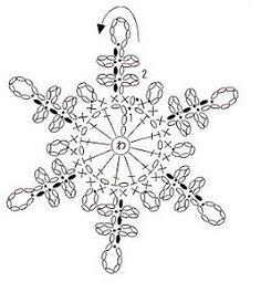 Crochet ideas that you'll love Crochet Snowflake Pattern, Crochet Stars, Crochet Snowflakes, Crochet Stitches Patterns, Thread Crochet, Crochet Diagram, Filet Crochet, Crochet Motif, Crochet Doilies