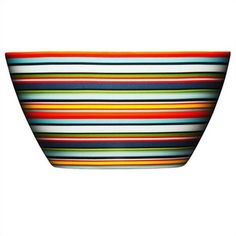 Make a bold statement with Iittala's cheery orange Origo Dinnerware Collection. Graced with chic stripes and warm colors, this porcelain dinnerware easily goes from the oven to the table and into the dishwasher for fast clean up. Rice Bowls, Cereal Bowls, Orange Bowl, Design Bestseller, Porcelain Dinnerware, Modern Dinnerware, Breakfast Bowls, All Modern, Modern Living