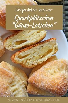 "Quarkplätzchen ""Gänse-Latschen"" – schnelles & leckeres Rezept - You can bake these quark cookies very quickly, as the recipe for them is very simple. The unusual q -"