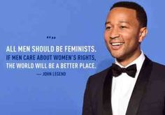 """Can men be feminist? The answer is always """"YES"""". A man being feminist doe not necessarily mean he has a feminist side. That is how society misunderstands feminism. Feminism is basically fighting for gender equality between men and women. What Is A Feminist, Feminist Men, Feminist Issues, Life Quotes Love, Men Quotes, Humor Quotes, Badass Quotes, Famous Quotes, True Quotes"""