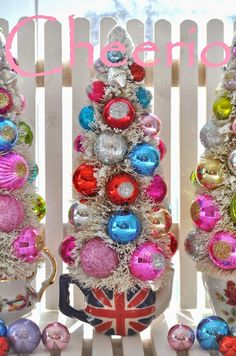 Holiday Sparkle: Mother's Day Bottle Brush Trees