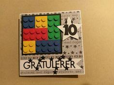 Lego-kort til en lego-gutt