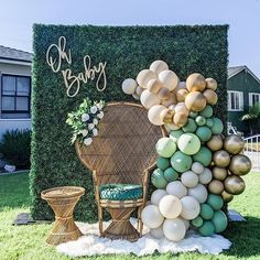 How to Throw the Perfect Drive-By Baby Shower (The Complete Guide) | The Petite Rainbow Baby Shower Backdrop, Boho Baby Shower, Baby Shower Balloons, Baby Shower Parties, Baby Boy Shower, Baby Shower Garland, Gender Reveal Party Decorations, Girl Baby Shower Decorations, Baby Shower Themes