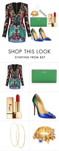 """StyledbyS"" by sforstylebys on Polyvore featuring Balmain, Kate Spade, Yves Saint Laurent, Christian Louboutin, Lana, Dolce&Gabbana, StreetStyle, DateNight, summerstyle and celebirtyinspired"