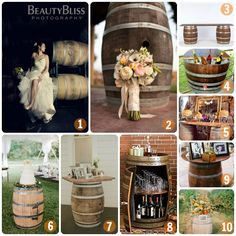 Wedding Decor: Barrels