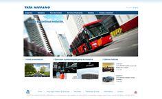 Diseño web para el fabricante de carrocerías Tata Hispano. http://www.tatahispano.com