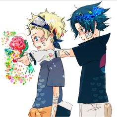 Naruto x Sasuke I love the style! It's amazing, and very colorful!