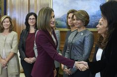 Royals & Fashion - Queen Letizia held three hearings at the Zarzuela Palace, in Madrid.