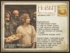 Lembas Bread and other recipes inspired by LOTR and the Hobbit Lembas Bread, Bread Recipes, Cooking Recipes, Cooking Bread, Hobbit Party, O Hobbit, J. R. R. Tolkien, Vintage Recipes, Lord Of The Rings