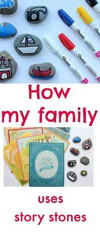 Fun new way to use story stones.  Great family activity.  For kids of all ages.
