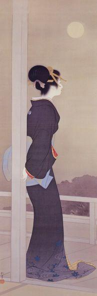上村松園 Uemura Shoen (1875-1949)『良宵之図』林原美術館蔵