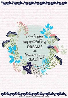 Start the week on a good note with a new positive affirmation each Monday Good Notes, I Am Happy, Positive Affirmations, Dreaming Of You, Positivity, Make It Yourself, Writing, How To Make, Im Happy
