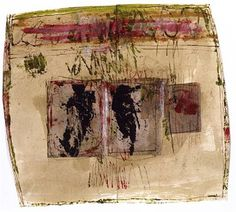 Hannelore Baron (1926-1987), Untitled, 1983. Mixed media collage. 21.9cm H x 24.5cm W.