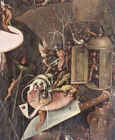 Bosch, Hieronymus: Der Garten der Lüste, rechter Flügel: Die Hölle, Detail
