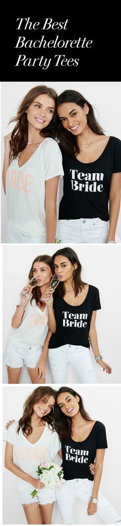 Getting ready for your bestie's bridal bash? Let her know you're forever #TeamBride with Express One Eleven graphic tees. Super soft and always sexy, you and your squad will be wearing these tees well after the nuptials.