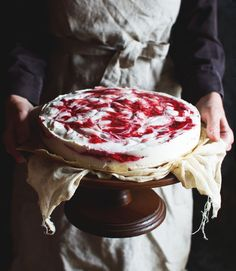 Low-Carb Raspberry Swirl Cheesecake - Simply So Healthy