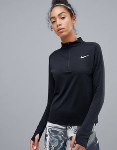 Buy Nike Running Half Zip Pacer Top In Black at ASOS. With free delivery and return options (Ts&Cs apply), online shopping has never been so easy. Get the latest trends with ASOS now. New Look Leggings, Running Leggings, Sports Leggings, Nike Running, Nike Jogging, Nike Sb, Nike Air Max, Nike Cortez, Asos
