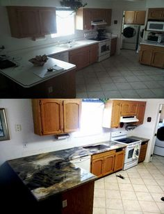 before and after do it yourself epoxy countertops amazing