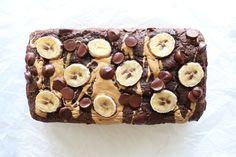 Double Chocolate Banana Bread - The Toasted Pine Nut Healthy Snacks For Diabetics, Good Healthy Recipes, Healthy Treats, Healthy Baking, Healthy Desserts, Diabetic Snacks, Free Recipes, Flourless Desserts, Keto Snacks