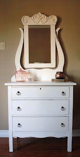 Vintage Renewed #antique #dresser #furniture #shabbychic #beautiful #white