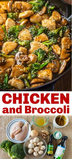 easy chicken broccoli mushroom stir fry The stir fry sauce is excellent and tastes better than takeout It s a healthy gluten free stir fry the whole family will love Chicken And Brocolli, Chicken Broccoli Stir Fry, Easy Chicken Recipes, Asian Recipes, Healthy Recipes, Chicken Mushroom Stir Fry, Easy Chicken Stir Fry, Stir Fry Recipes, Cooking Recipes