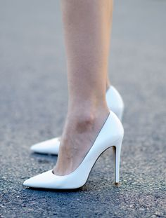 Feeling easy in beautiful white pumps gianvito rossi white pumps vxuryqg Sexy High Heels, Beautiful High Heels, Stiletto Pumps, Women's Pumps, White Shoes, Black Pumps, Crazy Shoes, Me Too Shoes, Graduation Shoes