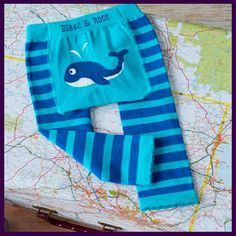 Blade and Rose Blue Whale Baby Leggings. Available at www.littlebuttonsboutique.co.uk