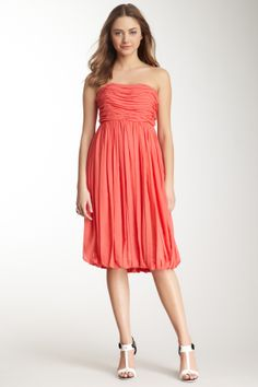 Chloe Strapless Pleated Dress